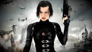 Milla Jovovich Resident Evil Retribution