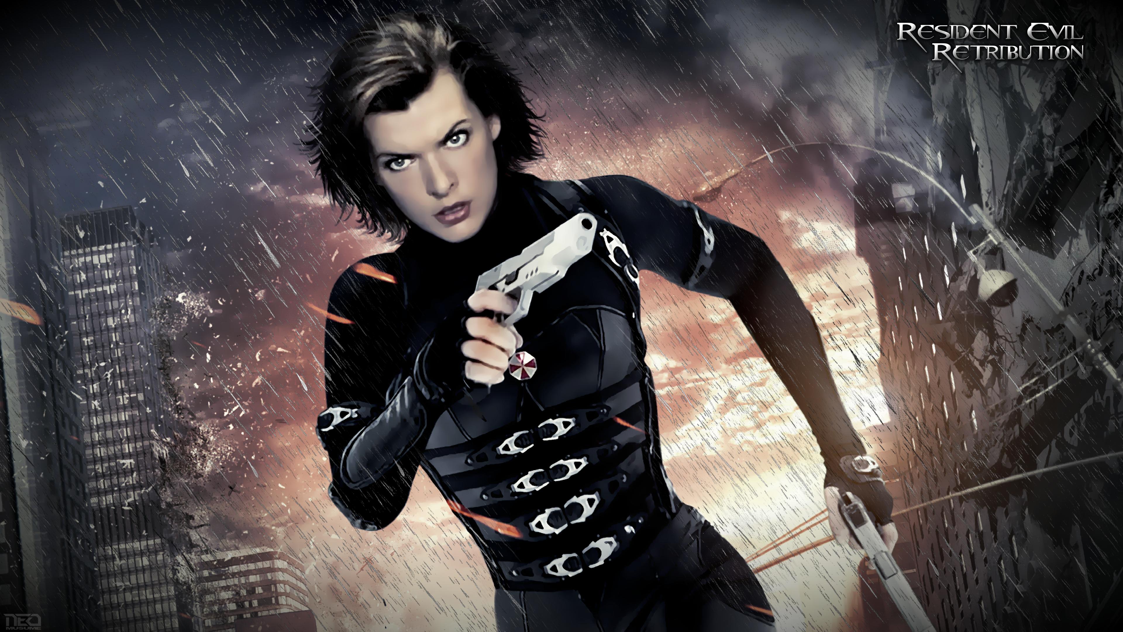 Resident evil retribution 4k by neo musume - Milla jovovich 4k wallpaper ...