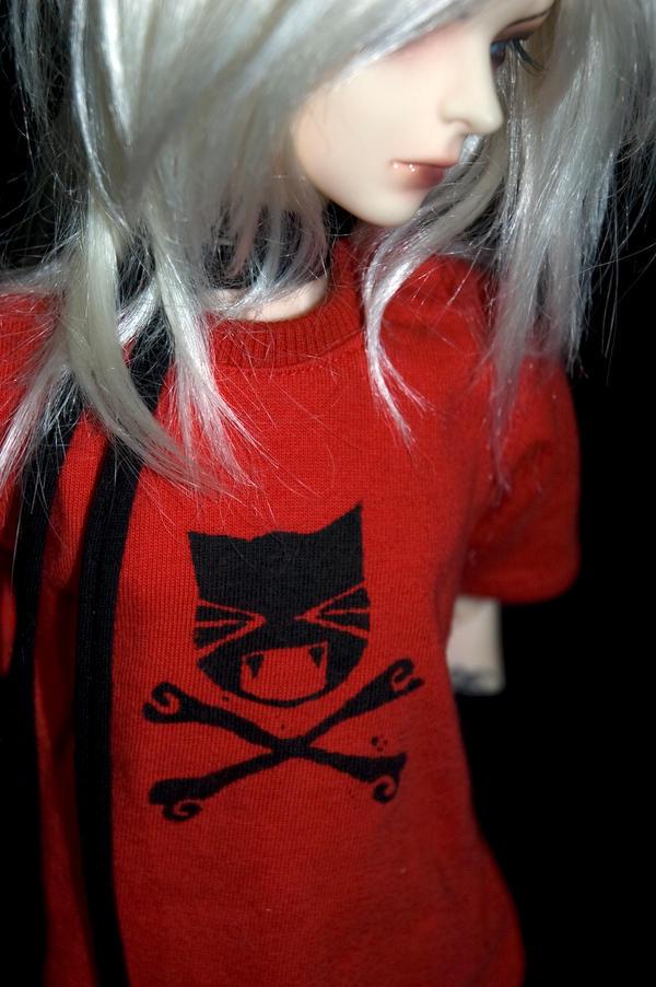 Crossbone Kitty shirt by EvilLittleGirls