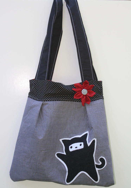 Ninja Kitty Bag by EvilLittleGirls