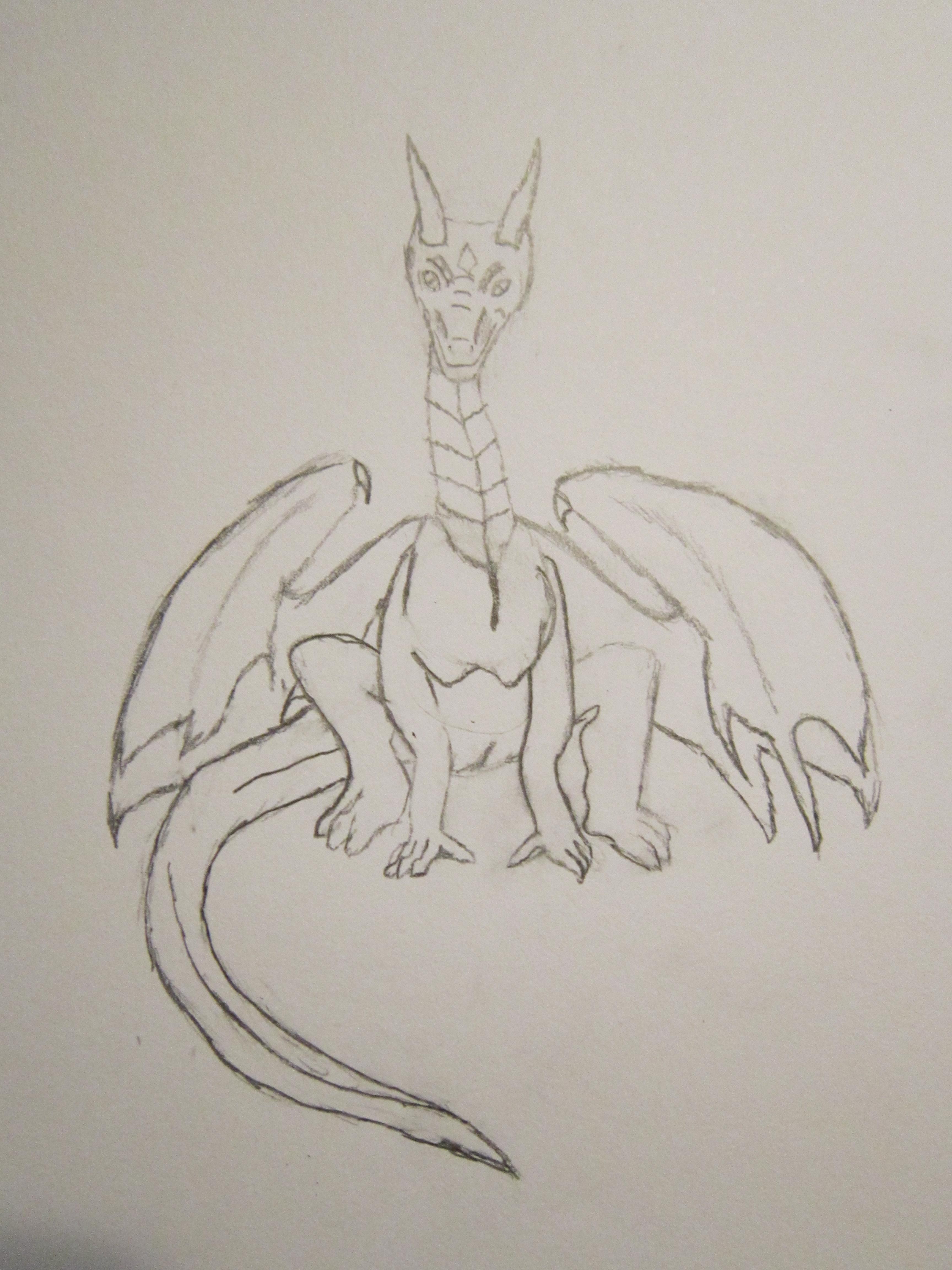 sitting Dragon by Rapt3rX