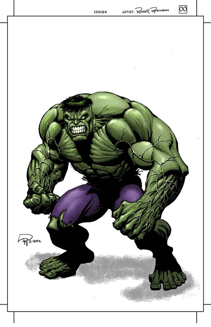Hulk Commission in Color by Roger-Robinson