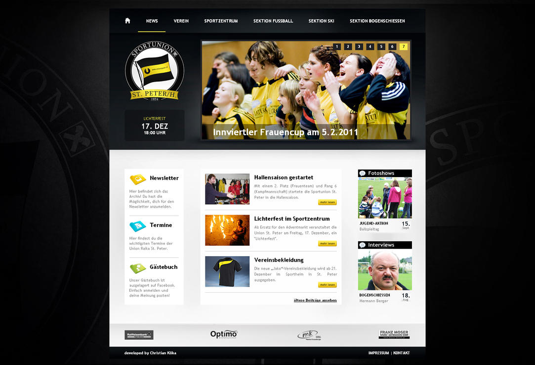 soccer website by klika1987 d35afcc Creatively Inspired Web Interface Designs