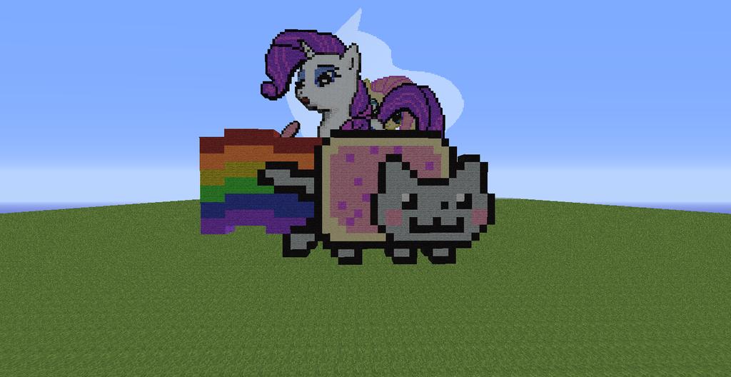 Dessin Pixel Nyan Cat
