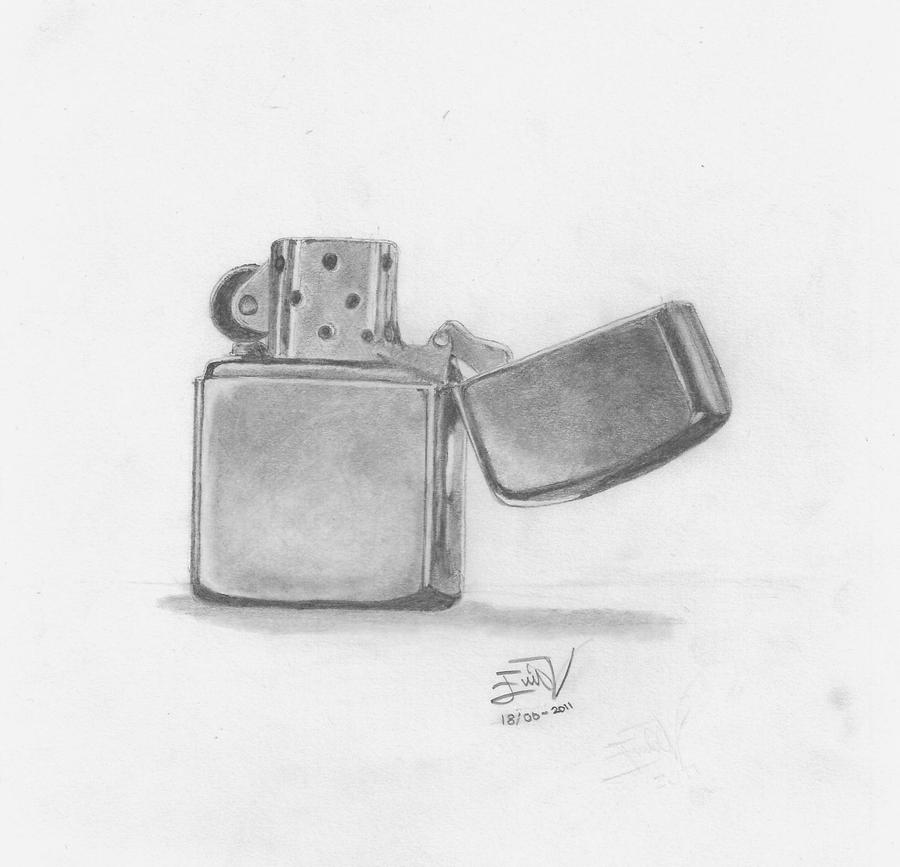 Zippo Lighter by AtokLanzeros Cool Lighter Drawings