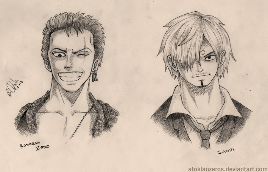 Roronoa Zoro and Sanji by AtokLanzeros