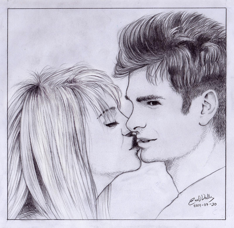 Peter Parker and Gwen Stacy by AtokLanzeros