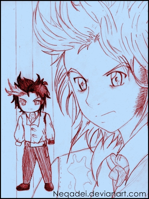 Sweeney Todd Anime and chibi by Neqadei
