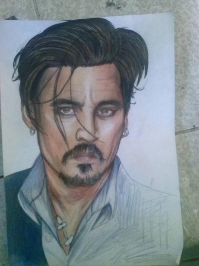 Johnny Depp Draw  by Neqadei