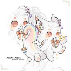 (OPEN)Adoptable(69):Rainbow Monster by DuckyEyes