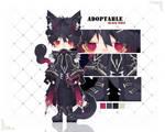 (CLOSED)Adoptable(165):Black Wolf