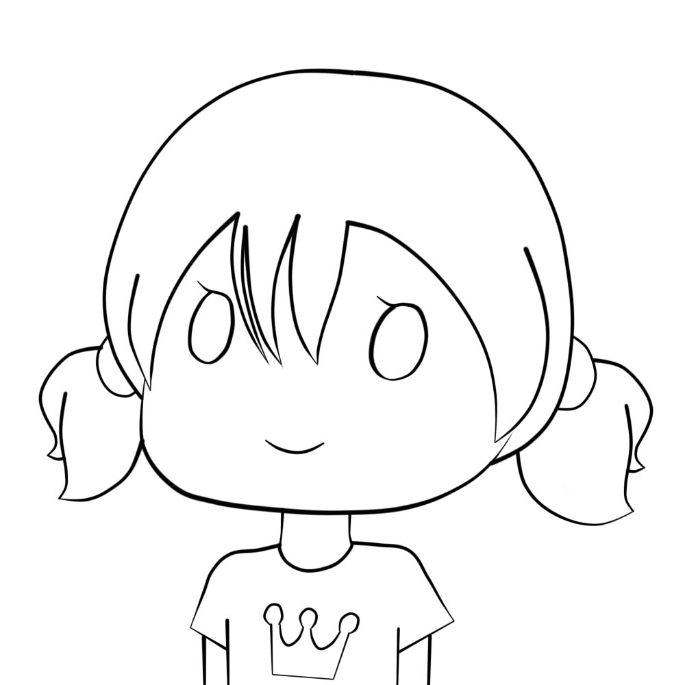 Cute Simple Line Art : Chibi outline pictures to pin on pinterest daddy