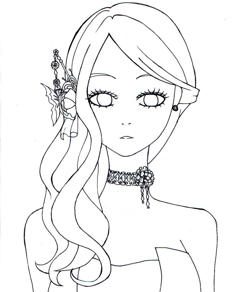 Line Drawing From Photo : My fair lady adeiona free line art by chubbycheeksmylove