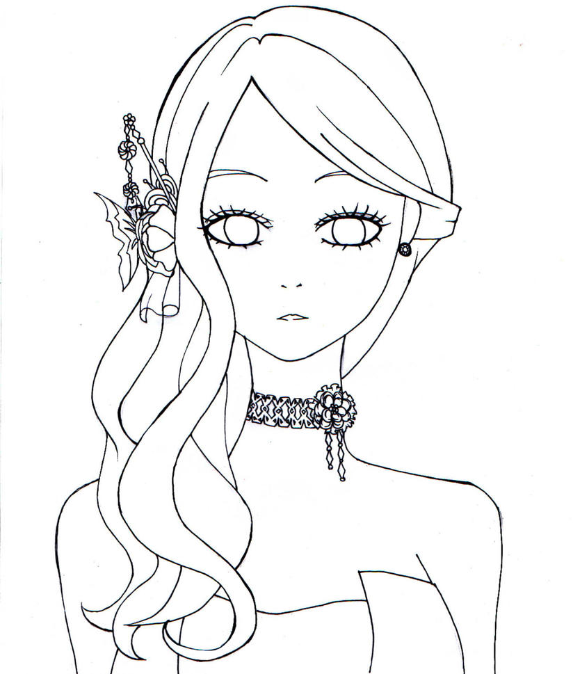 D Line Drawings Value : My fair lady adeiona free line art by chubbycheeksmylove