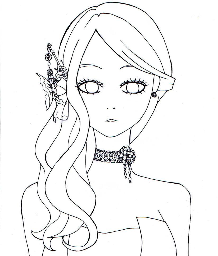 D Line Drawings Value : My fair lady adeiona free line art by chubbycheeksmylove