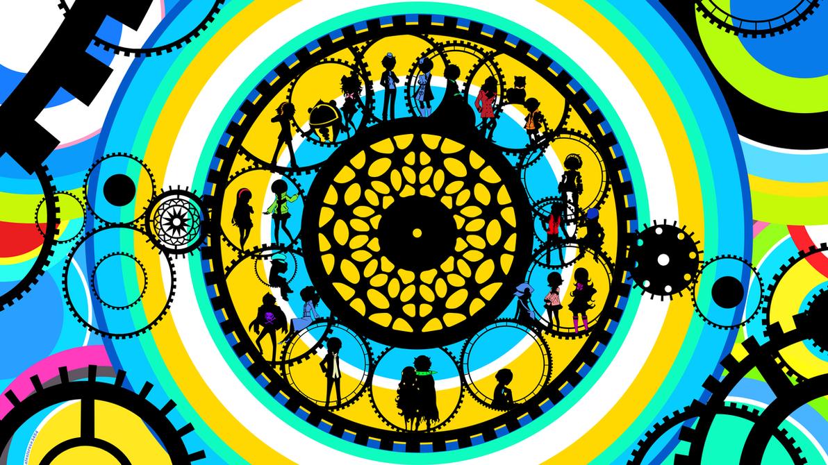 Persona Q Wallpaper: Colorful Gear by alexisrose1454 on DeviantArt