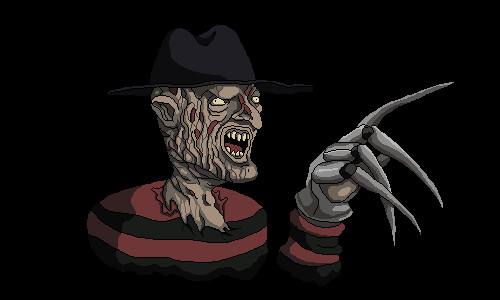 Pixelated Freddy Krueger by mcgormack
