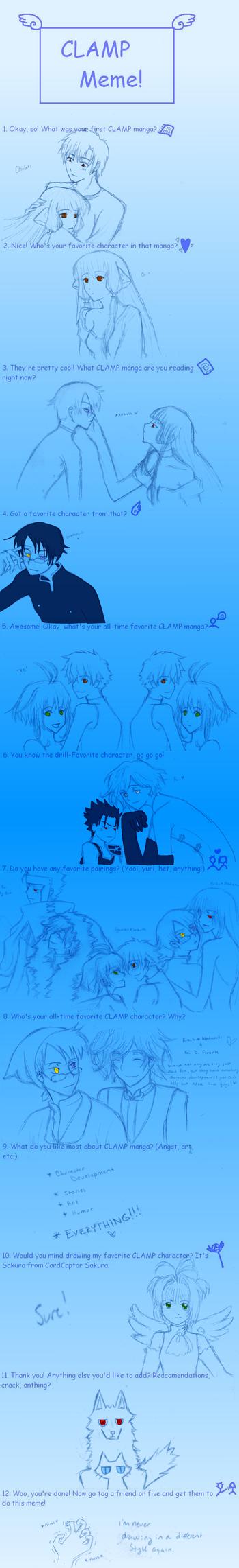 CLAMP Meme by Cel-Dreams
