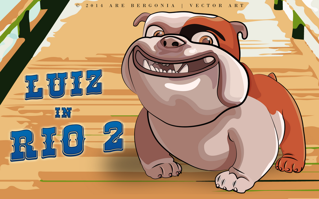 Luiz the bulldog rio 2 movie vector art by arelberg on deviantart luiz the bulldog rio 2 movie vector art by arelberg voltagebd Images