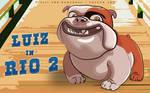 Luiz The Bulldog (Rio 2 Movie) Vector Art