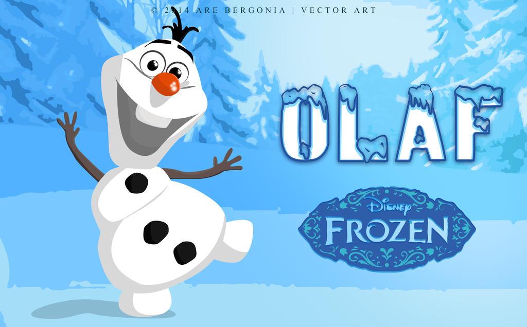 Olaf  The Snowman  in Frozen Vector Art by arelbergOlaf Snowman Frozen Wallpaper