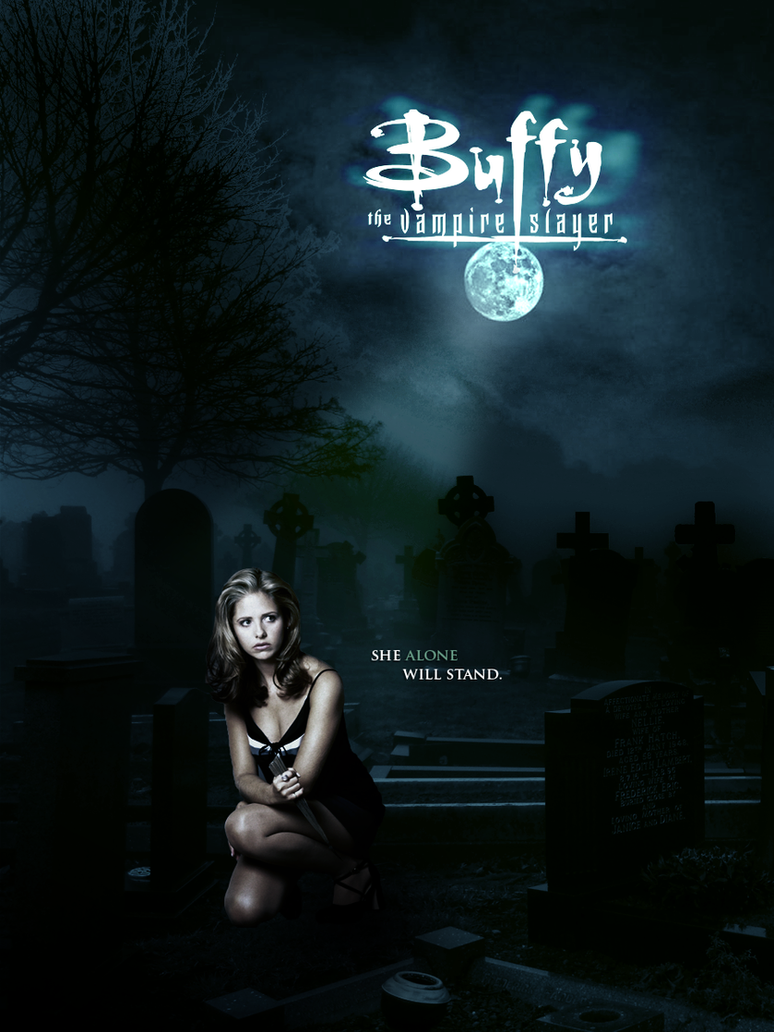 buffy the vampire slayer movie poster by oved011again on