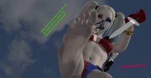Harley Quinn Feet   She wants you to lick her feet