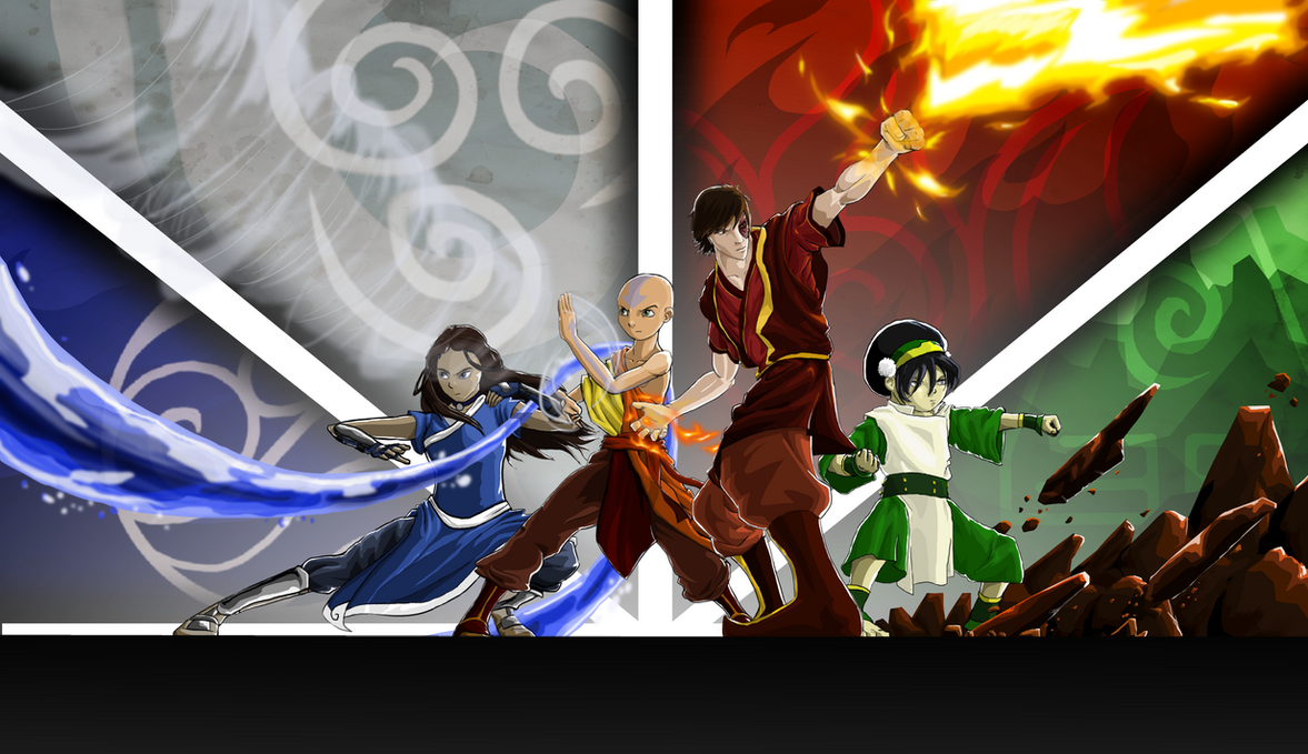 What Are The Six Main Elements Of Art : Avatar the four elements by agentspymonkey on deviantart