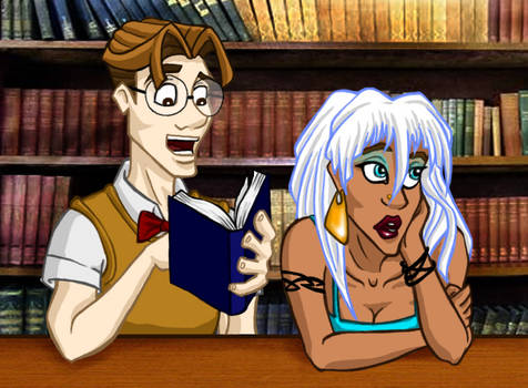 Disney High: Milo and Kida by vertiklychalingd