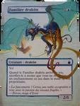 MTC altered card - Drake familiar by Lady-Natsuki