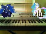 Princesses on a piano