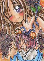 Princess Sakura and Asagiri by Mei-yu