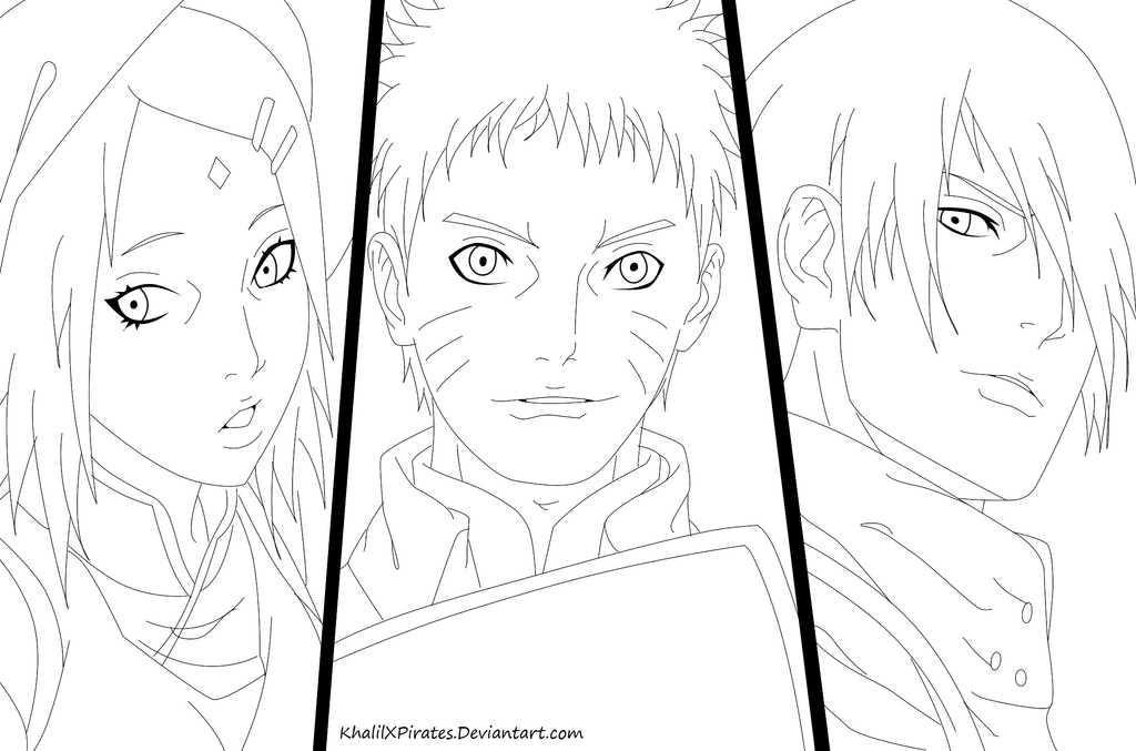 Team 7 Naruto Shippuden Coloring Coloring Pages