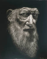 Charcoal Drawing of an old Man