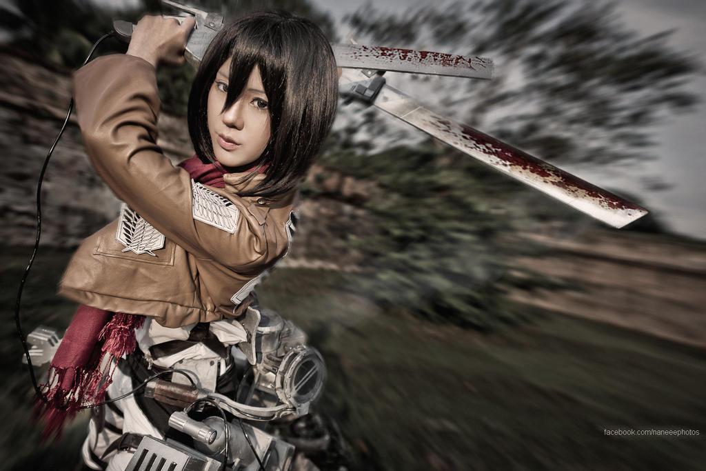 Shingeki no Kyojin: Mikasa Ackerman IV by Itchy-Hands