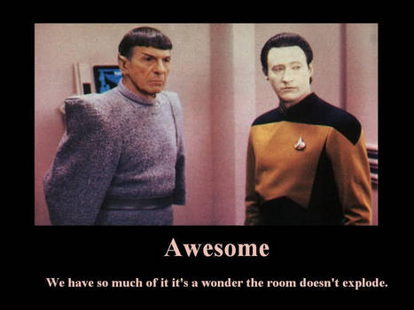 Data and Spock are Awesome