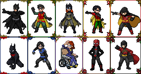 Batman Family by 8bitattorney