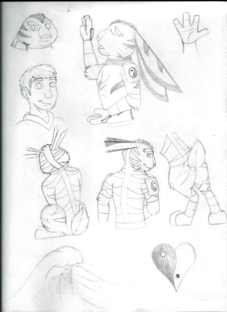 Nathaniel Hopson Sketches by Kooky4U