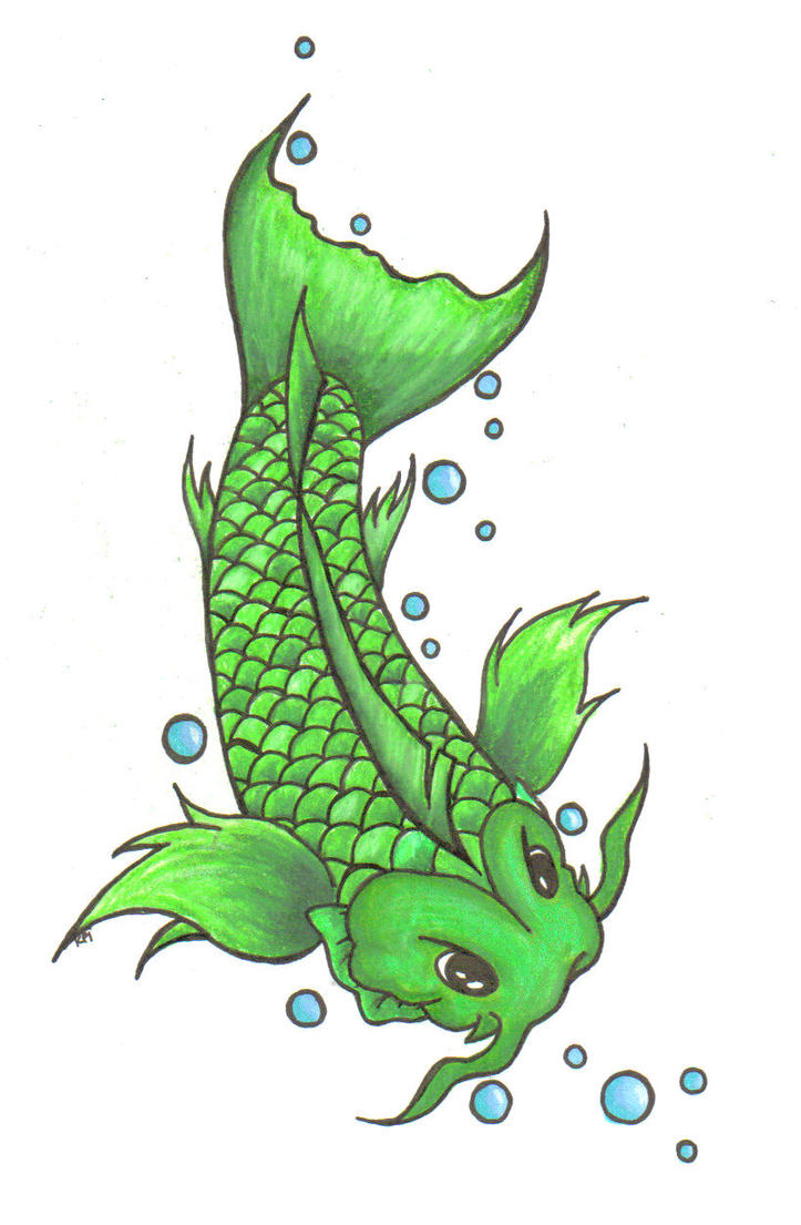 green koi by lilstardust on deviantart
