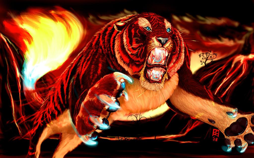 Ignis Tigris by TeknicolorTiger