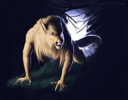 Golden Wolf, Silver Light by TeknicolorTiger