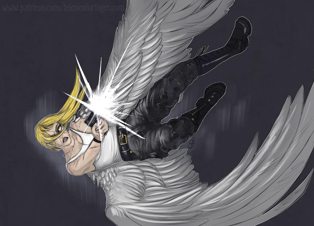Falling Angel by TeknicolorTiger