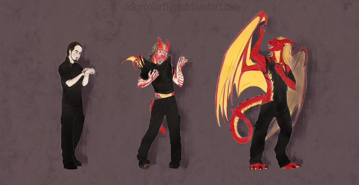 Dragon Scratch Fever by TeknicolorTiger