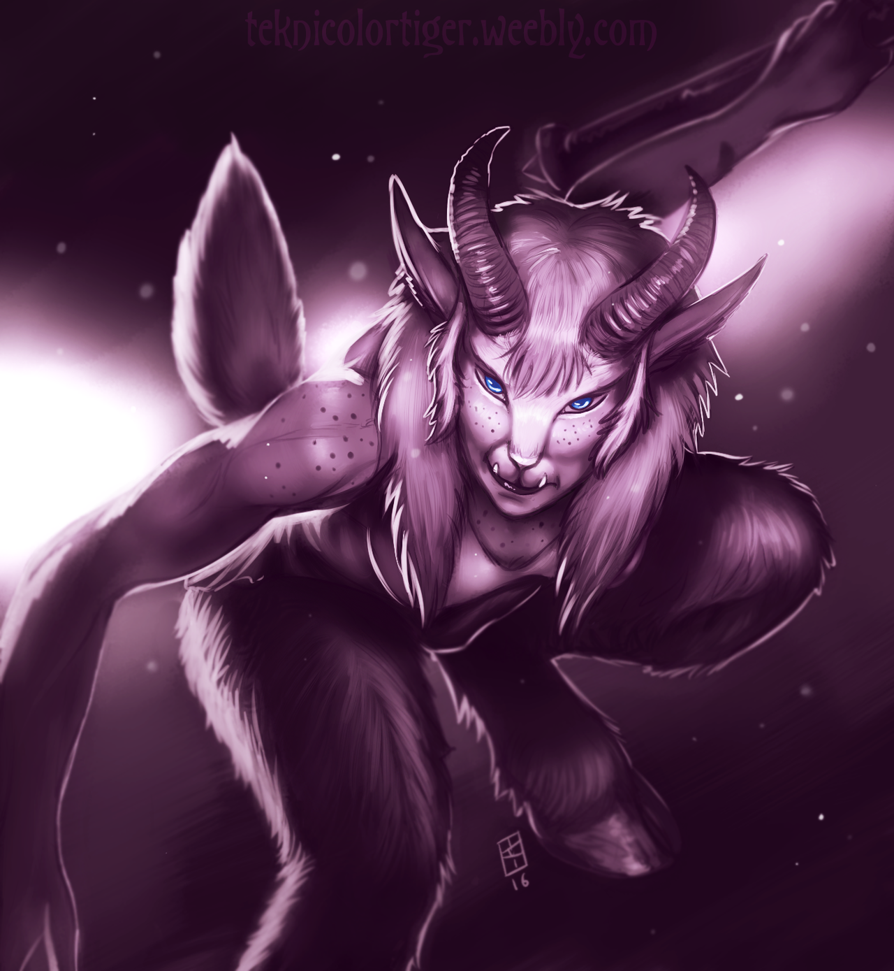 Shaded Sketch: Hoofer the Satyr by TeknicolorTiger
