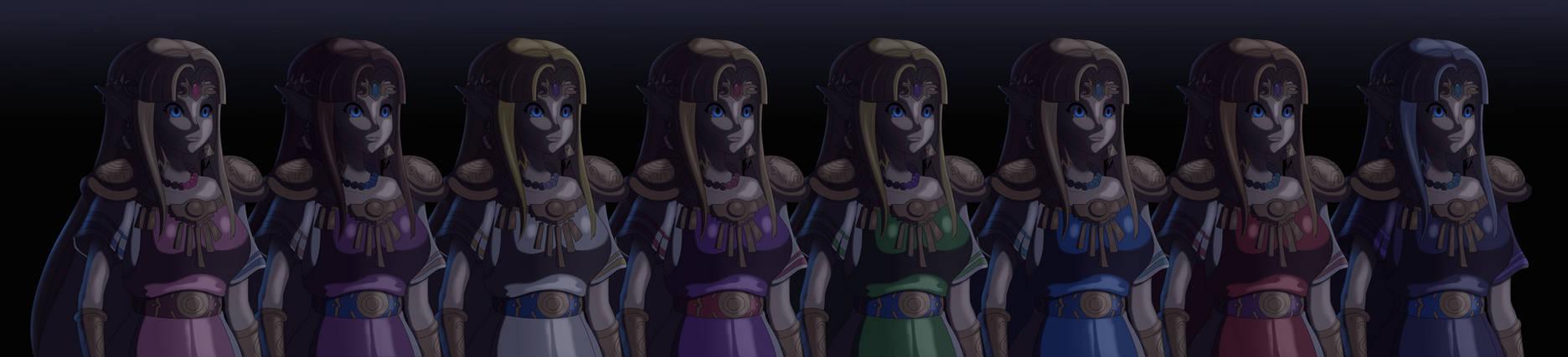 Cold Amiibo Zelda all colors