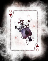 Beetle Royale Playing Cards - Queen of Hearts