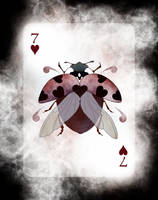 Beetle Royale Playing Cards - 7 of Hearts