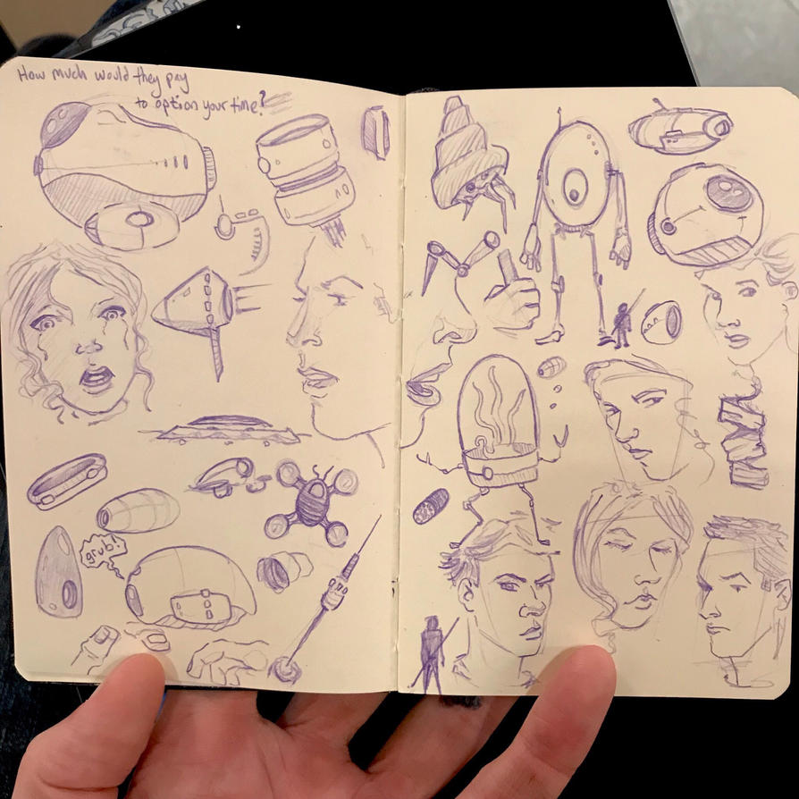 Commute sketchbook #08, first Pages by atomantic
