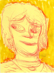 the looking lady by thepostitsproject