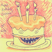 the cake is real... by thepostitsproject